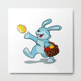 rabbit with Easter basket Metal Print
