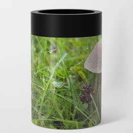 Mushroom in the Morning Dew by Althéa Photo Can Cooler