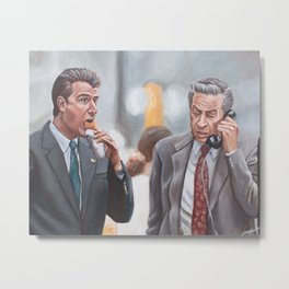 Logan and Briscoe - Law and Order and a Hotdog Metal Print