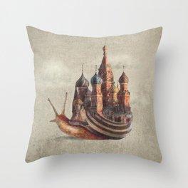 The Snail's Daydream Throw Pillow