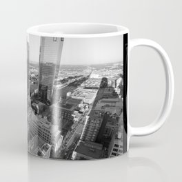 Fort Worth in Black and White Coffee Mug