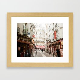 Old Paris - film Framed Art Print