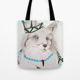 Fox with feathers Tote Bag