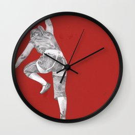 The cubicle climber- Red Wall Clock