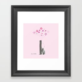 Valentine's Bouquet in Grey Vase Framed Art Print