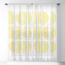 Funky Lemon cuts Sheer Curtain