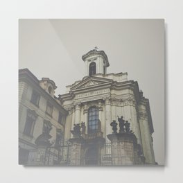 Old Eastern European Steeple Metal Print