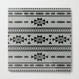 Abstract Tribal Native Geometric Pattern Metal Print