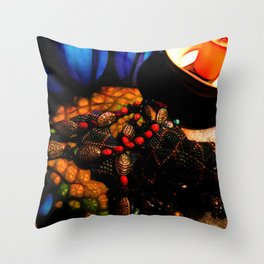Good Luck Ladybugs Necklace Still Life Throw Pillow