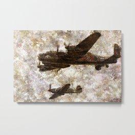 Grunge Dynamics 020 Lancaster & Hurricane Metal Print