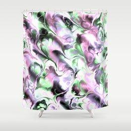 Fractal Marble 4 Shower Curtain
