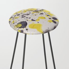 Yellow Grey Classic Abstract Art Counter Stool