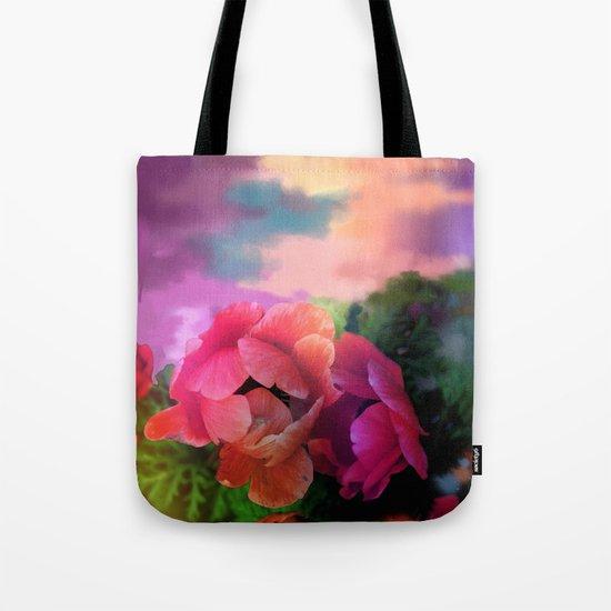 Summer garden with Anemones Tote Bag