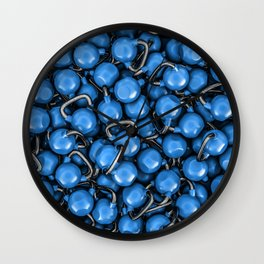 Kettlebells BLUE Wall Clock