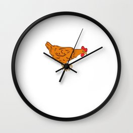 """Chick Lover? Here's a cute t-shirt design """"Sorry I Can't I Have Plans With My Chicken"""" T-shirt Wall Clock"""