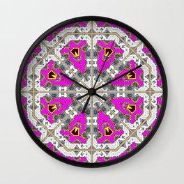 Pink Octagons* Wall Clock