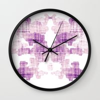 rorschach Wall Clocks featuring Rorschach by Adrienne