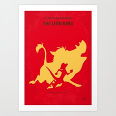No512 My The Lion King minimal movie poster Art Print