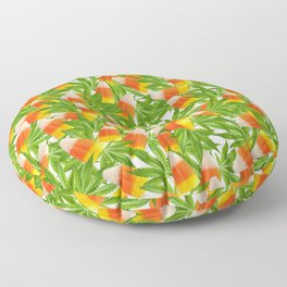 Candy Corn and Cannabis Floor Pillow