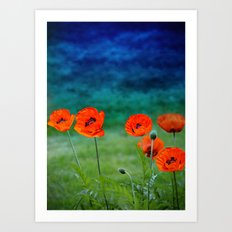 Poppies paradise Art Print