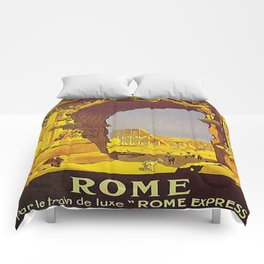 Vintage poster - Rome Comforters
