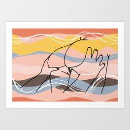 The Waves Of Sex, Erotic Lovers Art, Minimalist Sex Illustration, Modern Sex Pose Line Drawing Art Print