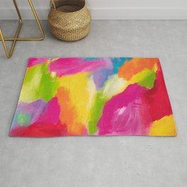 Abstract Rainbow Rug