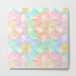 Polygonal pattern in pastel colors. Metal Print