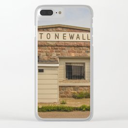 Stonewall Saloon, Regan, North Dakota 3 Clear iPhone Case