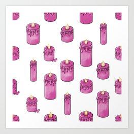 Candle Lit Pattern Art Print