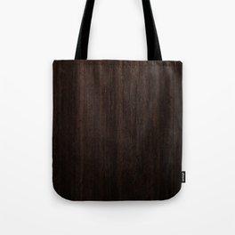 Very Dark Coffee Table Wood Texture Tote Bag