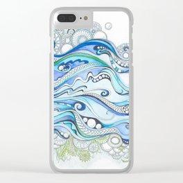 Ocean Seaweed Clear iPhone Case
