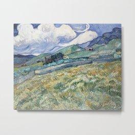 Vincent van Gogh Landscape Saint-Rémy Metal Print