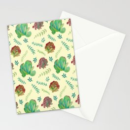 Paddle Plant Pattern Stationery Cards