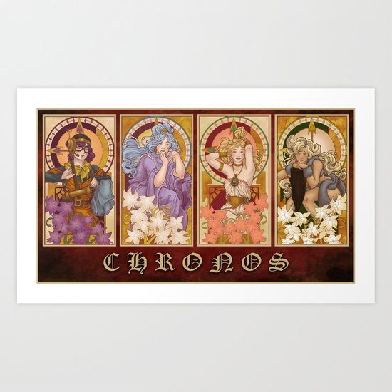 CHRONOS Nouveau Art Print