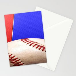 Baseball Sports on Blue and Red Stationery Cards
