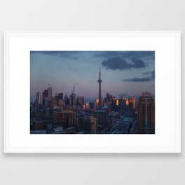 TORONTO DOWNTOWN Framed Art Print