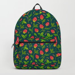 Strawberries Galore (pattern on Sea Blue-Green) Backpack