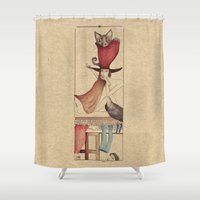 catwoman Shower Curtains featuring Catwoman by Mariana Baldaia