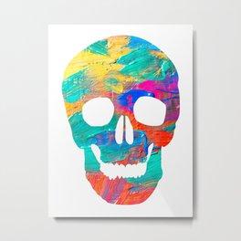Paint Skull Metal Print