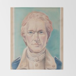 Hamilton in Uniform Throw Blanket
