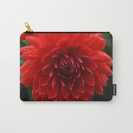Fresh Rain Drops - Red Dahlia Carry-All Pouch