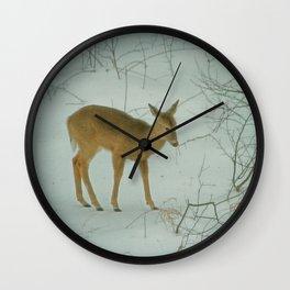 Deer Winter Wall Clock