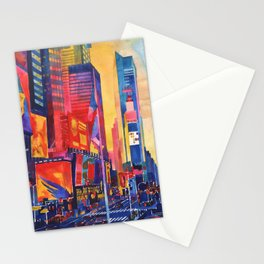 Times Square New York Stationery Cards