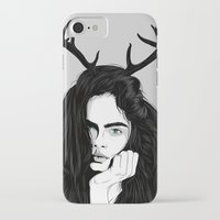 cara iPhone & iPod Cases featuring Cara by Roland Banrevi