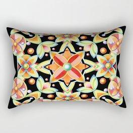 Suzani on black Rectangular Pillow