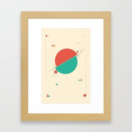 Circles and Angles Framed Art Print