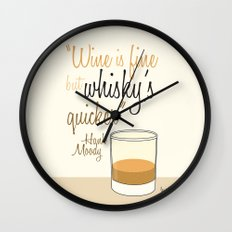 Tv drink quotes [Californication] Wall Clock