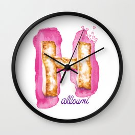 Halloumi Cheese Lust Wall Clock