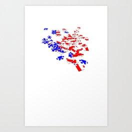 patriotic jigsaw Art Print